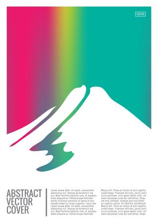 레인보우 커버 디자인 모형. 노트북 크리에이티브 레이아웃입니다. 기업 연례 보고서, 포스터, 잡지 첫 페이지의 배경. 최소한의 전단지, 비즈니스 전단지. 프로 모션 개념 카드입니다. A4 추상 미술