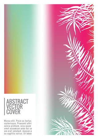 Rainbow cover design mockup. Notebook creative layout. Background for corporate annual report, poster, magazine first page. Minimal leaflet, business flyer. Promotion concept card. A4  abstract art