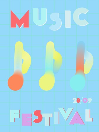 Music cover in blue, violet, pink, green colors. Rock concert flyer. Minimal tech brochure. Amplitude layout. Vibration audio cover. Creative party advertise. Vintage wave template.