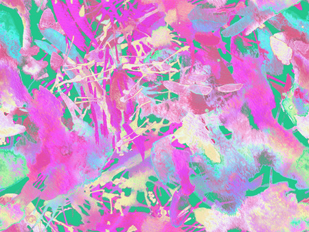 Distress seamless pattern. Red watercolor brush stroke grunge design. Watercolour ikat splash paint design. Gradient ink blots. Dirt splat pattern. Liquid drip brush endless print.
