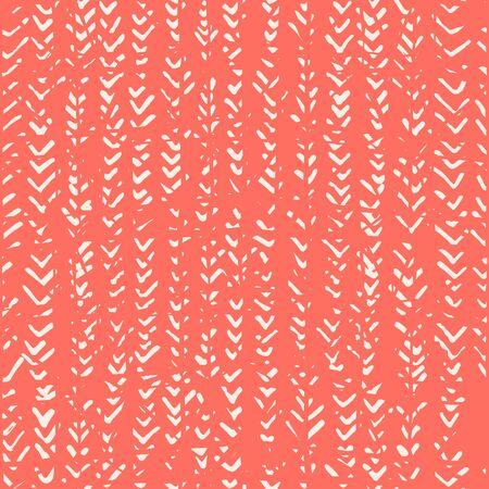 Pink and Beige tie dye seamless pattern.  Shibori seamless print. Watercolor hand drawn batik.  Handmade watercolour shirt tie dye pattern. Japan traditional tile. Rose and White shibori. 矢量图像