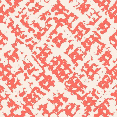 Rose and Beige tie dye seamless pattern.  Shibori seamless print. Watercolor hand drawn batik.  Handmade watercolour shirt tie dye pattern. Japan traditional tile. Maroon and White shibori. 矢量图像