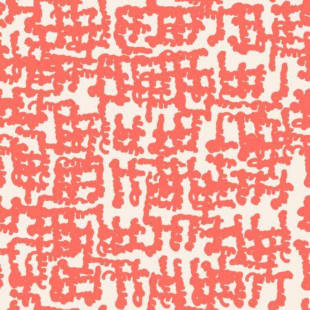 Burgundy and Beige tie dye seamless pattern.  Shibori seamless print. Watercolor hand drawn batik.  Handmade watercolour shirt tie dye pattern. Japan traditional tile. Burgundy and White shibori. 矢量图像
