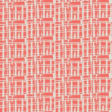 Terracotta and Beige tie dye seamless pattern.  Shibori seamless print. Watercolor hand drawn batik.  Handmade watercolour shirt tie dye pattern. Japan traditional tile. Red and Beige shibori.