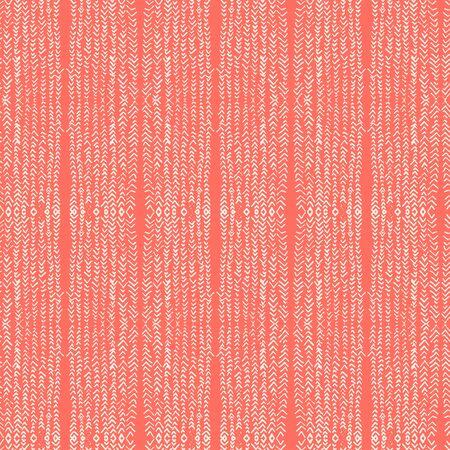 Coral and White tie dye seamless pattern.  Shibori seamless print. Watercolor hand drawn batik.  Handmade watercolour shirt tie dye pattern. Japan traditional tile. Red and White shibori.