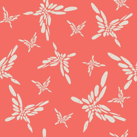 Pink and White tie dye seamless pattern.  Shibori seamless print. Watercolor hand drawn batik.  Handmade watercolour shirt tie dye pattern. Japan traditional tile. Pink and Beige shibori. Illustration