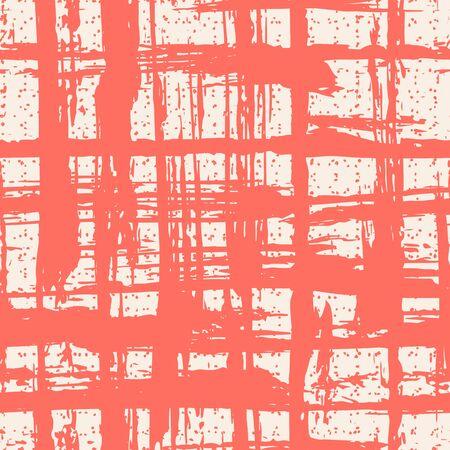 Coral and White tie dye seamless pattern.  Shibori seamless print. Watercolor hand drawn batik.  Handmade watercolour shirt tie dye pattern. Japan traditional tile. Salmon and White shibori.  イラスト・ベクター素材