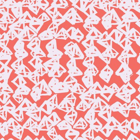 Pink and Beige tie dye seamless pattern.  Shibori seamless print. Watercolor hand drawn batik.  Handmade watercolour shirt tie dye pattern. Japan traditional tile. Pink and White shibori.