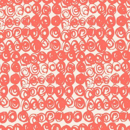 Salmon and Beige tie dye seamless pattern.  Shibori seamless print. Watercolor hand drawn batik.  Handmade watercolour shirt tie dye pattern. Japan traditional tile. Coral and White shibori.