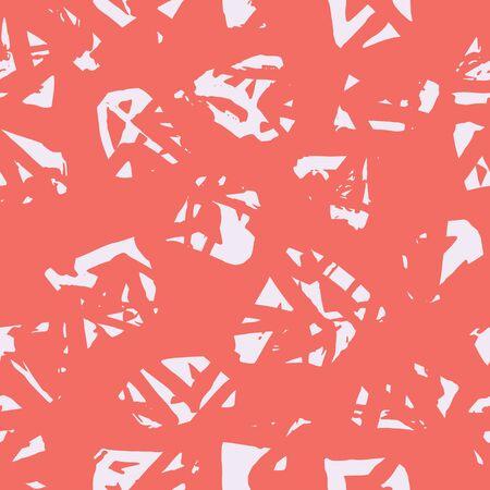 Maroon and Beige tie dye seamless pattern.  Shibori seamless print. Watercolor hand drawn batik.  Handmade watercolour shirt tie dye pattern. Japan traditional tile. Pink and Beige shibori. Ilustrace