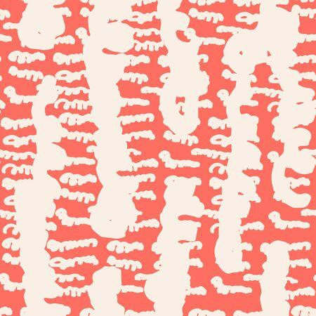 Rose and Beige tie dye seamless pattern.  Shibori seamless print. Watercolor hand drawn batik.  Handmade watercolour shirt tie dye pattern. Japan traditional tile. Rose and Beige shibori. Ilustrace