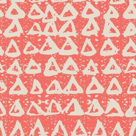 Red and White tie dye seamless pattern.  Shibori seamless print. Watercolor hand drawn batik.  Handmade watercolour shirt tie dye pattern. Japan traditional tile. Red and White shibori. Ilustrace