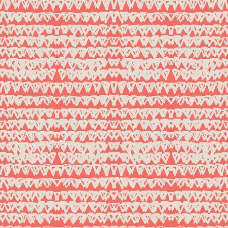 Crimson and White tie dye seamless pattern. Shibori seamless print. Watercolor hand drawn batik. Handmade watercolour shirt tie dye pattern. Japan traditional tile. Coral and Beige shibori.