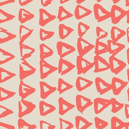 Terracotta and Beige tie dye seamless pattern.  Shibori seamless print. Watercolor hand drawn batik.  Handmade watercolour shirt tie dye pattern. Japan traditional tile. Red and White shibori. Çizim