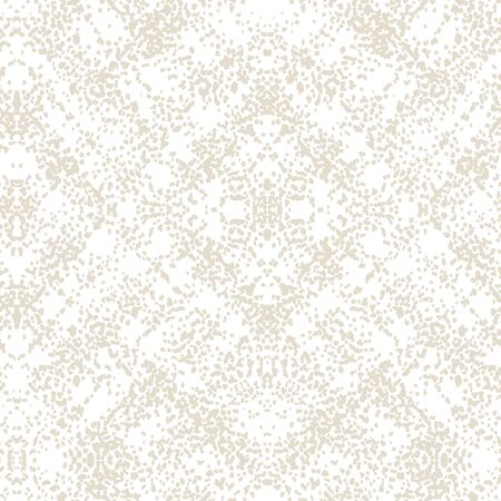 White and Beige Vector seamless check pattern. Allover pattern. Ink grunge grid. Hand drawn seamless check pattern. Graphic background with ethnic tartan. Seamless check pattern background.