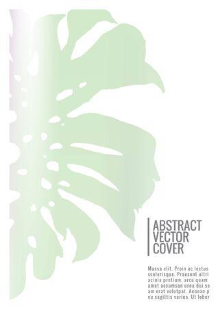 Holographic cover. Iridescent geometric minimal brochure. Holo retro background. Foil simple flyer. Exotic plants backdrop. Fun fluid backdrop. Geometric retro brochure. Foil card.