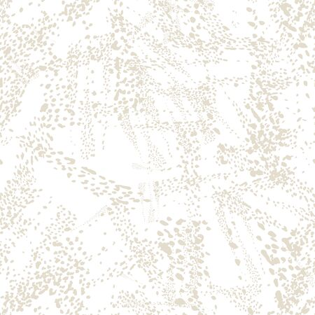 Watercolor Camouflage Design. Spot Tile.  Leopard Skin Print. Animal Camouflage Background. African Rapport Pattern. Leopard Vector Seamless Pattern. Animal Abstract Texture. White and Beige