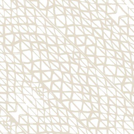 Watercolor Shoji Design. Kimono Tile.  Beige and White Batik Tie Dye Border. Stencil Japan Background. Organic Minimal Grid. Shibori Seamless Pattern. Tie Dye Abstract Texture.