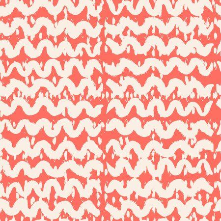 Pink and Beige tie dye seamless pattern.  Shibori seamless print. Watercolor hand drawn batik.  Handmade watercolour shirt tie dye pattern. Japan traditional tile. Terracotta and White shibori.