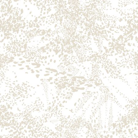 Watercolor Camouflage Design. Spot Tile.  Leopard Skin Print. Animal Camouflage Background. Leopard Vector Seamless Pattern. Animal Abstract Texture. African Rapport Pattern. White and Beige Ilustração