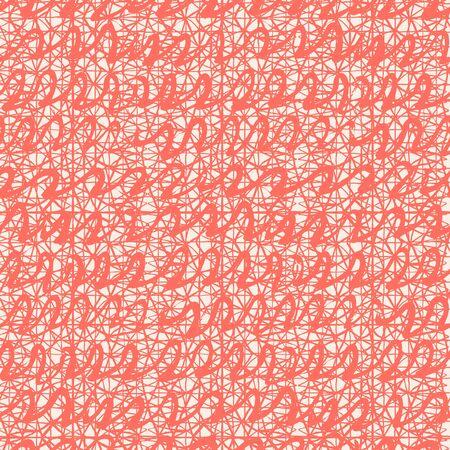 Pink and White tie dye seamless pattern.  Shibori seamless print. Watercolor hand drawn batik.  Handmade watercolour shirt tie dye pattern. Japan traditional tile. Coral and White shibori. Ilustração