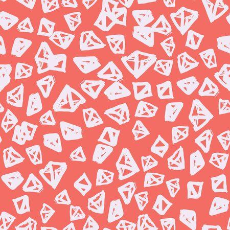 Rose and Beige tie dye seamless pattern.  Shibori seamless print. Watercolor hand drawn batik.  Handmade watercolour shirt tie dye pattern. Japan traditional tile. Salmon and Beige shibori.