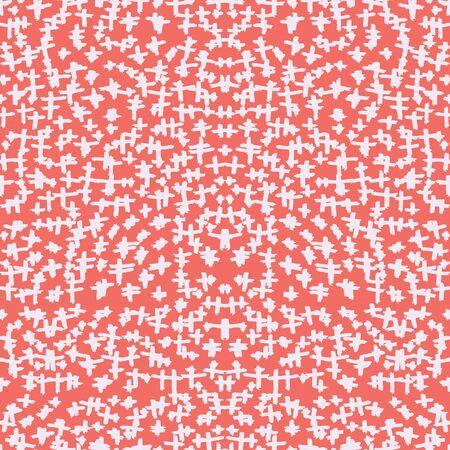 Red and Beige tie dye seamless pattern.  Shibori seamless print. Watercolor hand drawn batik.  Handmade watercolour shirt tie dye pattern. Japan traditional tile. Terracotta and Beige shibori. Ilustração