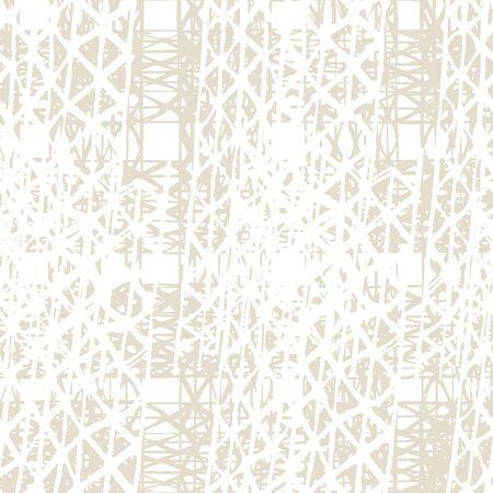 Shibori Seamless Pattern. Tie Dye Abstract Texture. Watercolor Shoji Design. Kimono Tile.  Organic Minimal Grid. Batik Tie Dye Border. Stencil Japan Background. Beige and White