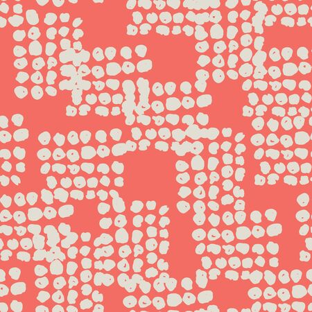Crimson and Beige tie dye seamless pattern.  Shibori seamless print. Watercolor hand drawn batik.  Handmade watercolour shirt tie dye pattern. Japan traditional tile. Pink and Beige shibori. Ilustração