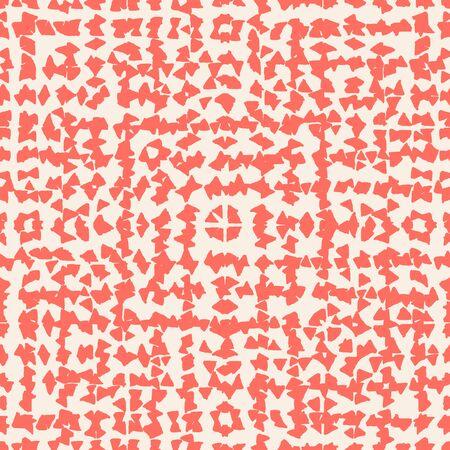 Salmon and Beige tie dye seamless pattern.  Shibori seamless print. Watercolor hand drawn batik.  Handmade watercolour shirt tie dye pattern. Japan traditional tile. Coral and Beige shibori. Ilustração