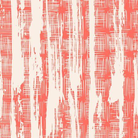Coral and White tie dye seamless pattern.  Shibori seamless print. Watercolor hand drawn batik.  Handmade watercolour shirt tie dye pattern. Japan traditional tile. Terracotta and White shibori.