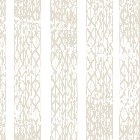 Watercolor Shoji Design. Kimono Tile. Batik Tie Dye Border. Stencil Japan Background. Shibori Seamless Pattern. Tie Dye Abstract Texture. Organic Minimal Grid. Beige and White