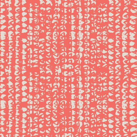 Coral and White tie dye seamless pattern.  Shibori seamless print. Watercolor hand drawn batik.  Handmade watercolour shirt tie dye pattern. Japan traditional tile. Terracotta and Beige shibori.