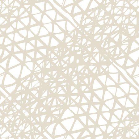 Watercolor Shoji Design. Kimono Tile.  Shibori Seamless Pattern. Tie Dye Abstract Texture. Organic Minimal Grid. Batik Tie Dye Border. Stencil Japan Background. Beige and White
