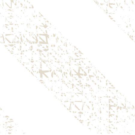 Shibori Seamless Pattern. Tie Dye Abstract Texture. Batik Tie Dye Border. Stencil Japan Background. Beige and White Watercolor Shoji Design. Kimono Tile.  Organic Minimal Grid.