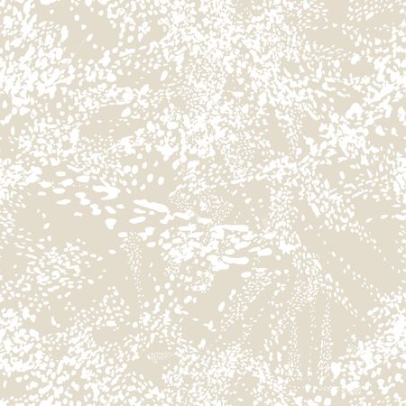Watercolor Camouflage Design. Spot Tile.  Leopard Vector Seamless Pattern. Animal Abstract Texture. White and Beige Leopard Skin Print. Animal Camouflage Background. African Rapport Pattern.