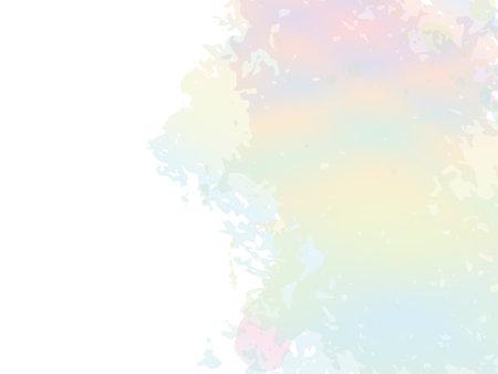 Isolated Splash on White Backdrop. Watercolor Textured Background. Abstract Fluid Splash. Vector Brush Stroke. Sale Banner Brushstroke. Gradient Paintbrush. Holographic
