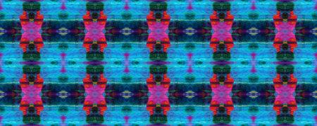 Geometric Swimwear Pattern. Blue, Red, Black Pastel Fun Rectangle Ikat Rapport. Ethnic Seamless Pattern. Paintbrush Aztec Background. Kilim Rug Random Texture. Watercolor Ethnic Design. Reklamní fotografie