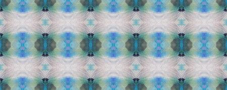Kilim Rug Random Texture. Blue, Gray, Green Pastel Fun Rectangle Ikat Rapport. Ethnic Seamless Pattern. Watercolor Ethnic Design. Paintbrush Aztec Background. Geometric Swimwear Pattern. Reklamní fotografie
