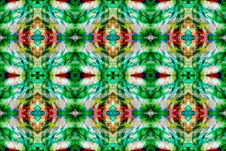 Kilim Rug Random Texture. Paintbrush Aztec Background. Watercolor Ethnic Design. Geometric Swimwear Pattern. Green, Red, Gray Pastel Fun Rectangle Ikat Rapport. Ethnic Seamless Pattern.