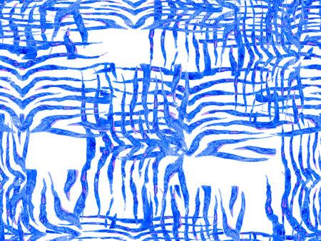 Geometric Animal Texture. Watercolor Camouflage Design. Abstract Safari Tile. Zebra Skin Print. Animal Camouflage Background. African Pattern. Stripes Seamless Pattern. Classic blue and indigo Reklamní fotografie