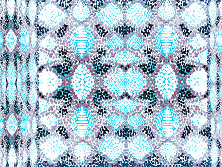 Geo Symmetric Ikat Rapport. Vibrant Geometric Swimwear Pattern. Ethnic Seamless Pattern. Snake Skin Random Texture. Watercolor Ethnic Design. Summer Rhombus Background. Navy blue and indigo