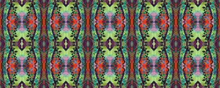Blue, Red, Green Pastel Fun Rectangle Ikat Rapport. Ethnic Seamless Pattern. Kilim Rug Random Texture. Watercolor Ethnic Design. Geometric Swimwear Pattern. Paintbrush Aztec Background. Reklamní fotografie