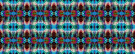Paintbrush Aztec Background. Geometric Swimwear Pattern. Blue, Gray, Red Pastel Fun Rectangle Ikat Rapport. Ethnic Seamless Pattern. Kilim Rug Random Texture. Watercolor Ethnic Design.