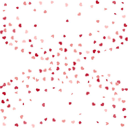 Heart Background. Empty Vintage Confetti Template. Red Pink Exploding Like Sign. Vector Template for Mother's Day Card. St Valentine Day Card with Classical Hearts. 8 March Banner with Flat Heart. Illustration
