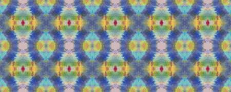 Blue, Red, Green Pastel Fun Rectangle Ikat Rapport. Ethnic Seamless Pattern. Paintbrush Aztec Background. Chevron Geometric Swimwear Pattern. Watercolor Ethnic Design. Kilim Rug Random Texture.