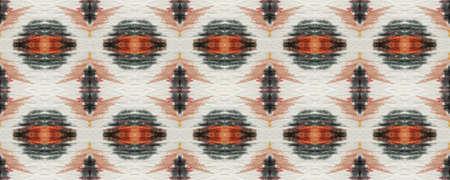 Ethnic Seamless Pattern. Fun Rectangle Ikat Rapport. Chevron Geometric Swimwear Pattern. Snake Skin Random Texture. Beige, Brown and Black Paintbrush Python Background. Watercolor Ethnic Design.