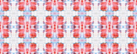 Red, Beige and Blue Chevron Geometric Swimwear Pattern. Snake Skin Random Texture. Watercolor Ethnic Design. Ethnic Seamless Pattern. Fun Rectangle Ikat Rapport. Paintbrush Python Background.