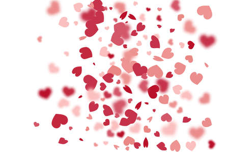 Heart Background. Red Pink Exploding Like Sign. Vector Template for Mother's Day Card. St Valentine Day Card with Classical Hearts. 8 March Banner with Flat Heart. Empty Vintage Confetti Template. Vetores