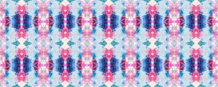 Chevron Geometric Swimwear Pattern. Blue, Red, Purple Pastel Fun Rectangle Ikat Rapport. Ethnic Seamless Pattern. Paintbrush Aztec Background. Kilim Rug Random Texture. Watercolor Ethnic Design.